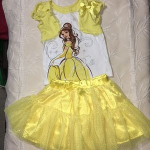 Disney beauty and the beast BELLE  2-piece outfit